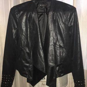 INC Metallic black Jacket sz Small